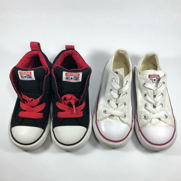 406dcc0d7b5400 Converse Shoes Two Pairs Kids Size 9
